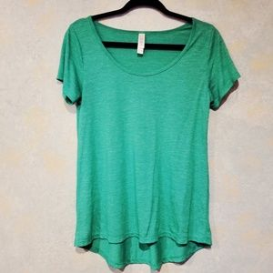 LuLaRoe Emerald Green Irma High Low Top